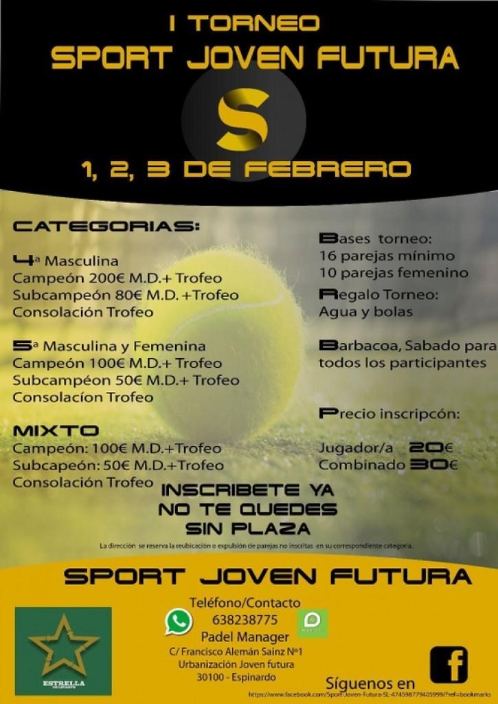 1 TORNEO PADEL SPORT JOVEN FUTURA - Murcia - 2019