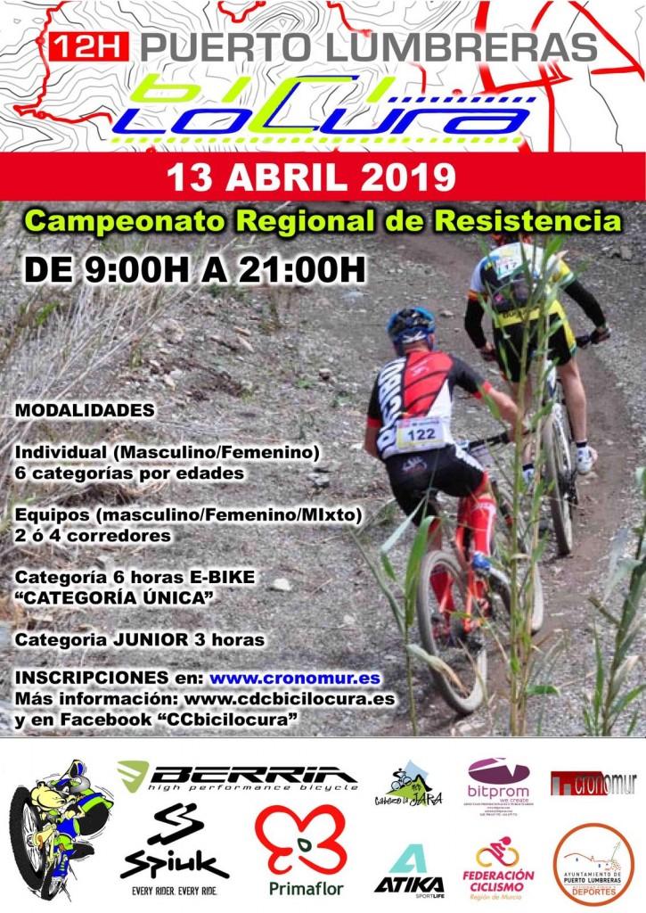 12H PUERTO LUMBRERAS G.P. BICILOCURA - Murcia - 2019