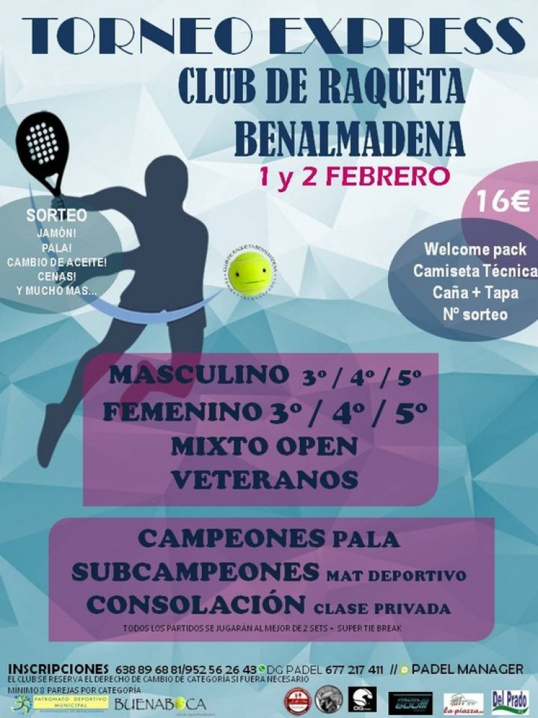 1ER TORNEO EXPRESS 2019 Club de Raqueta Benalmádena - Málaga