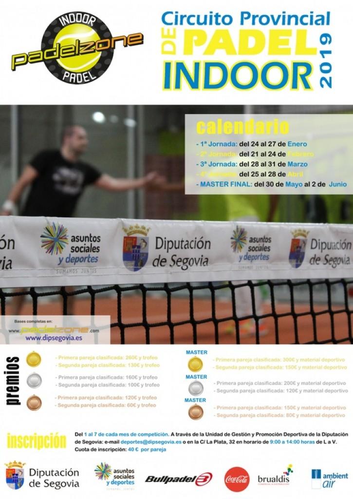 3ª JORNADA CIRCUITO PROVINCIAL DE PADEL INDOOR 2019 - Segovia