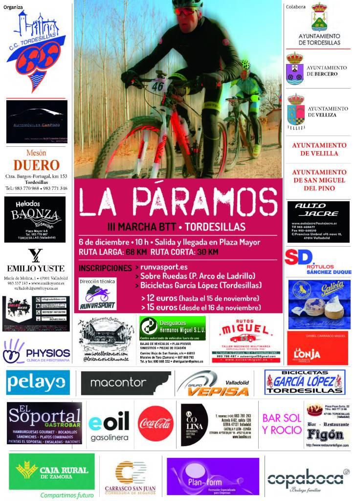 3ª MARCHA BTT LA PARAMOS - TORDESILLAS - Valladolid - 2018