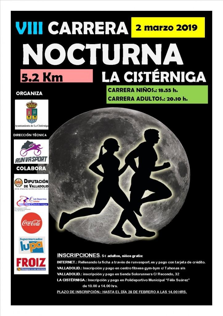 8ª Carrera Popular Nocturna La Cistérniga - Valladolid - 2019
