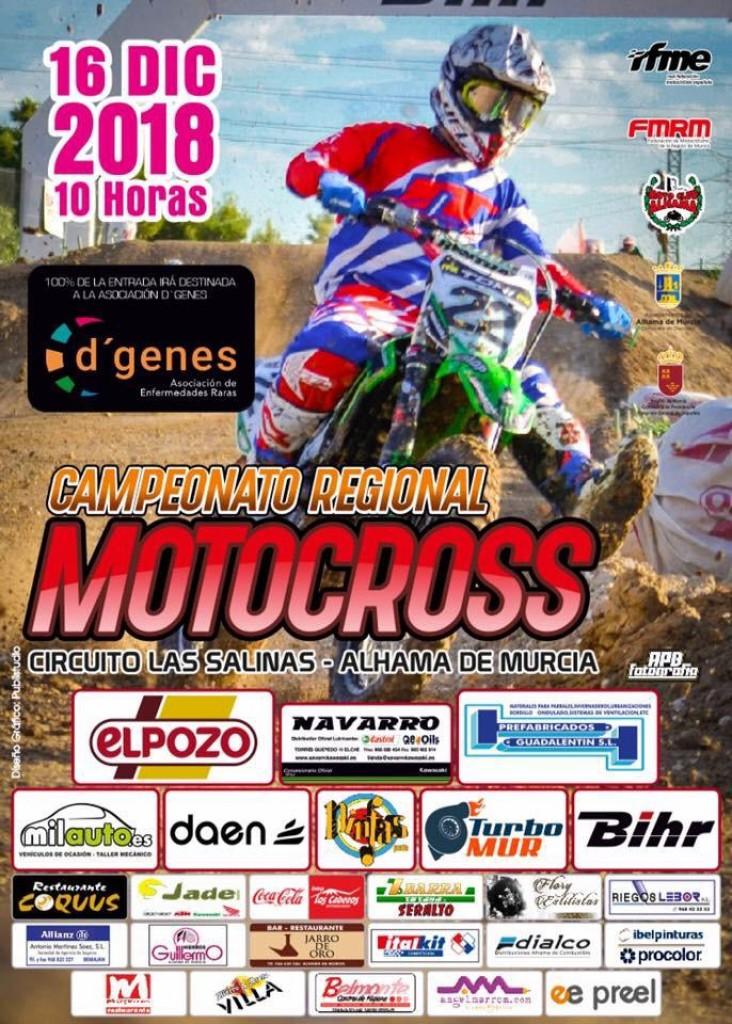 CAMPEONATO REGIONAL MOTOCROSS - ALHAMA DE MURCIA - 2018