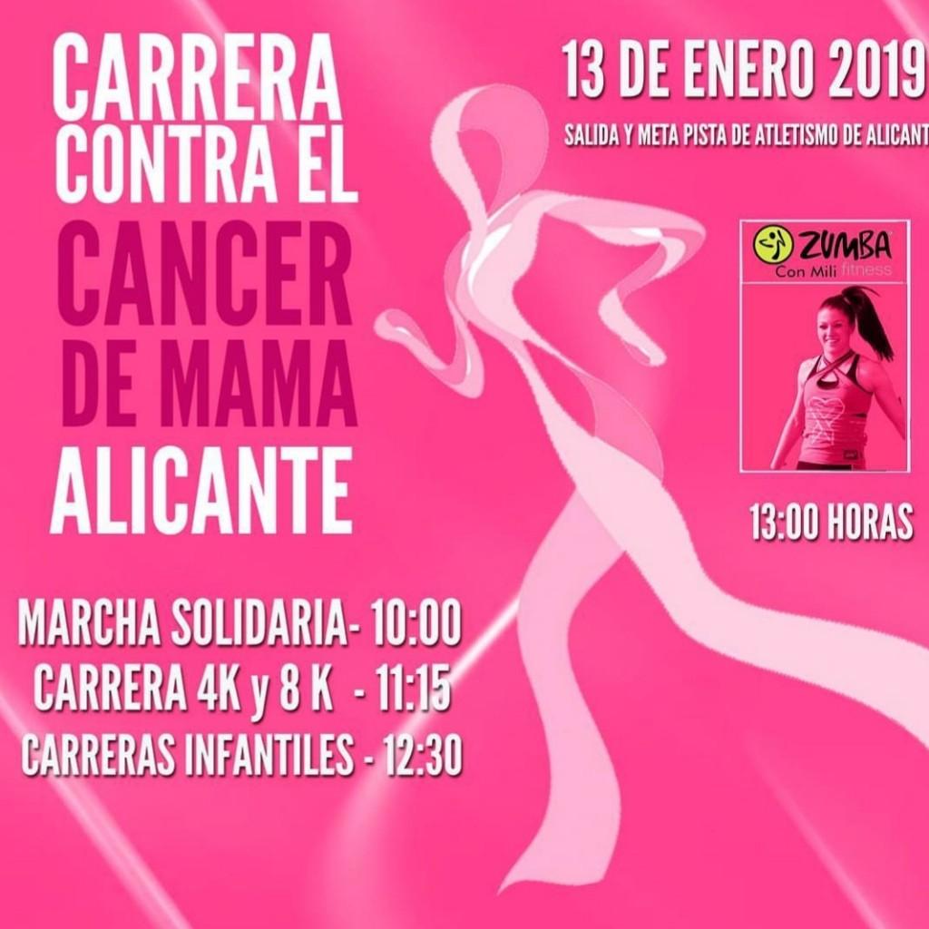 CARRERA CONTRA EL CANCER DE MAMA - Alicante - 2019