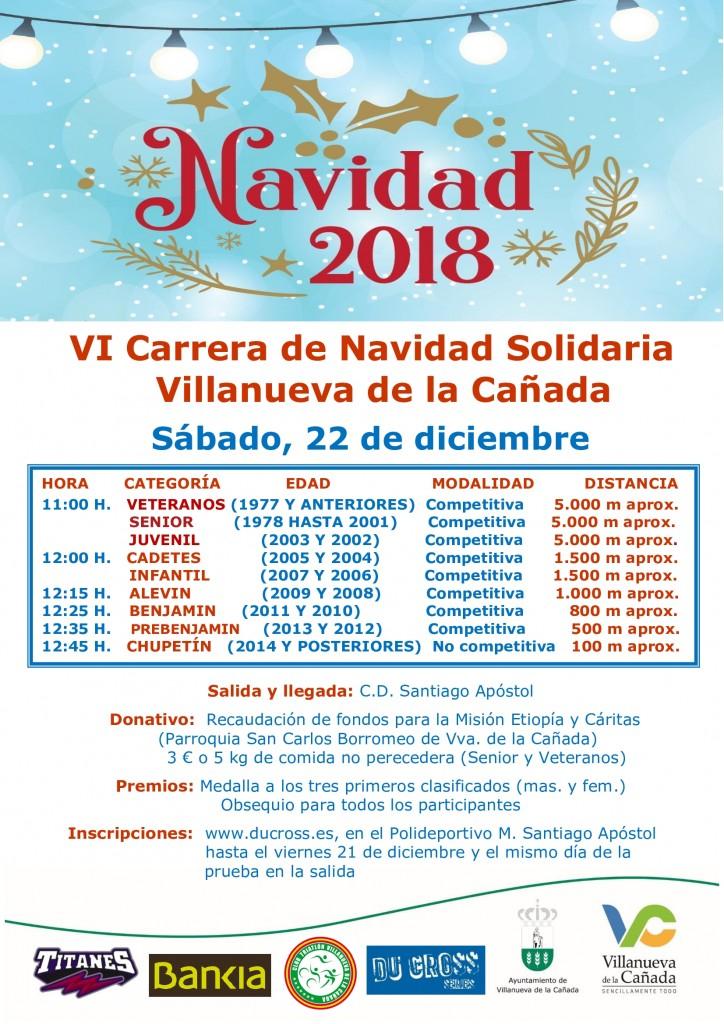 Carrera Navidad Solidaria Villanueva de la Cañada - Madrid - 2018