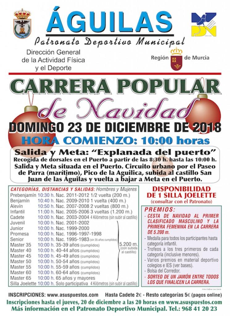 CARRERA POPULAR DE NAVIDAD SUBIDA AL CASTILLO DE AGUILAS 2018 - Murcia