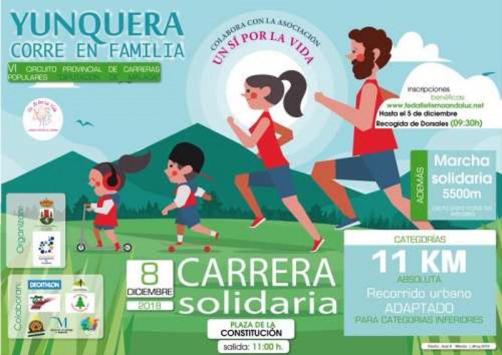 CARRERA SOLIDARIA DE YUNQUERA - Malaga - 2018