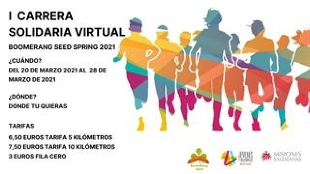 Carrera Solidaria Virtual Boomerang Seed Primavera Madrid 2021