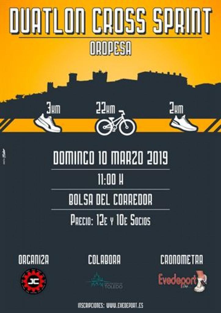 DUATLÓN CROSS SPRINT OROPESA - Toledo - 2019
