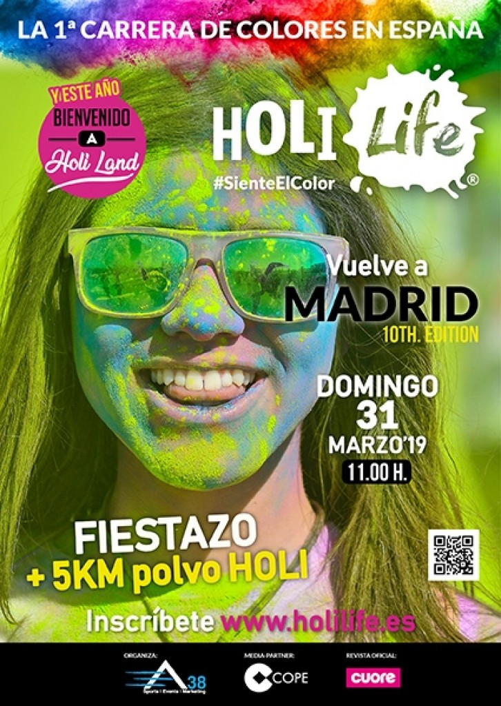 Holi Life Madrid 10th Edition 31-03-2019