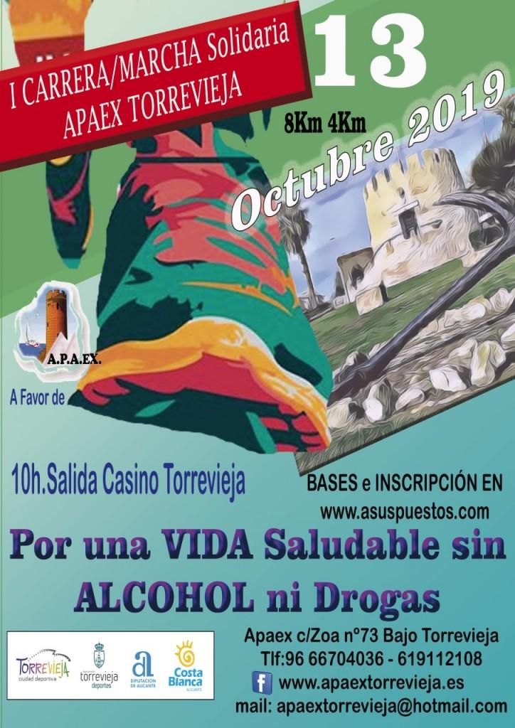 I Carrera / Marcha Solidaria APAEX Torrevieja - Alicante - 2019