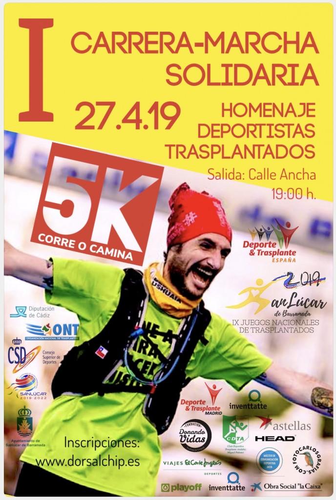 I Carrera Solidaria Homenaje a los deportistas Trasplantados - Cadiz - 2019