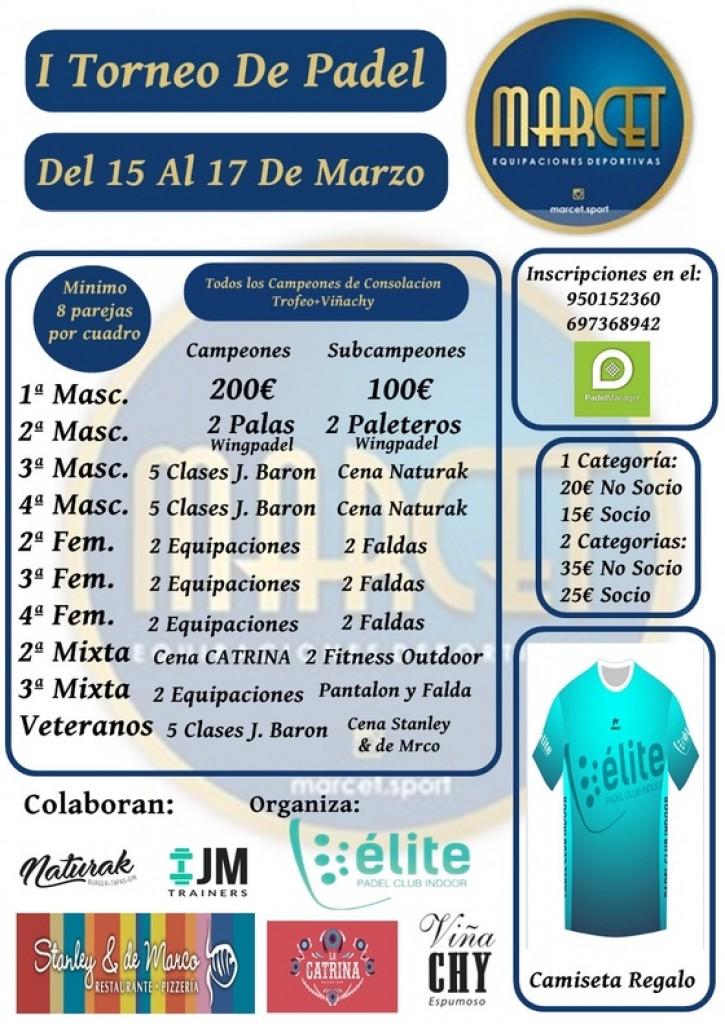 I TORNEO DE PADEL MARCET SPORT - Almería - 2019