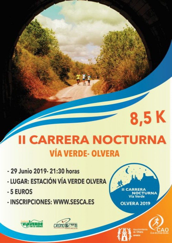 II Carrera Nocturna Vía Verde de la Sierra - Cádiz - 2019