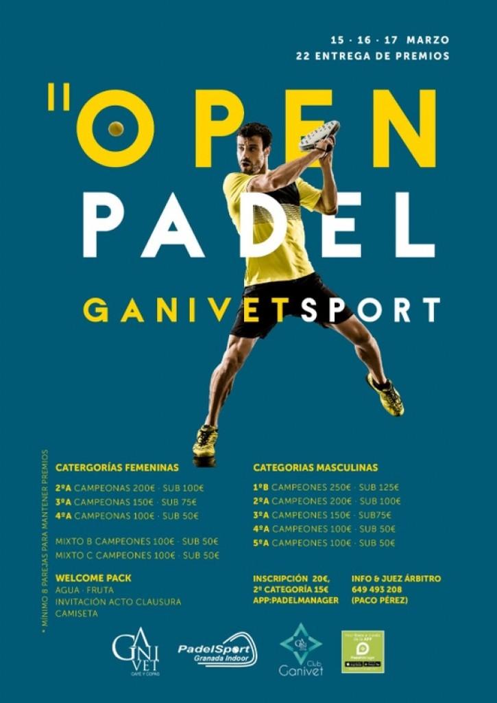 II OPEN DE PADEL GANIVET SPORT - Granada - 2019