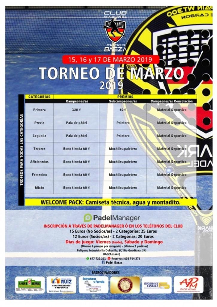 II TORNEO SHARK PÁDEL INDOOR BAEZA 2019 - Jaén