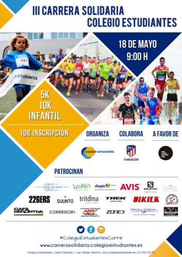 III Carrera Solidaria Colegio Estudiantes - Madrid - 2019
