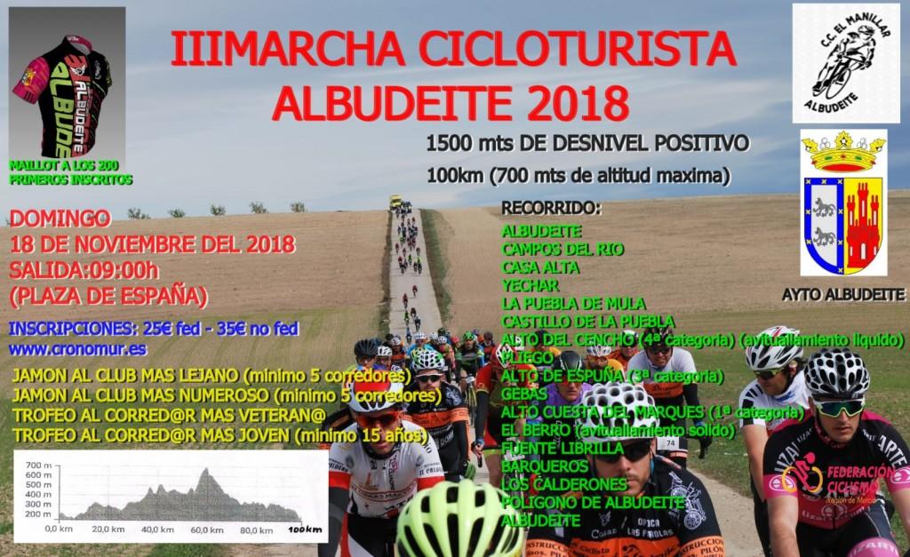 III MARCHA CICLOTURISTA ALBUDEITE 2018