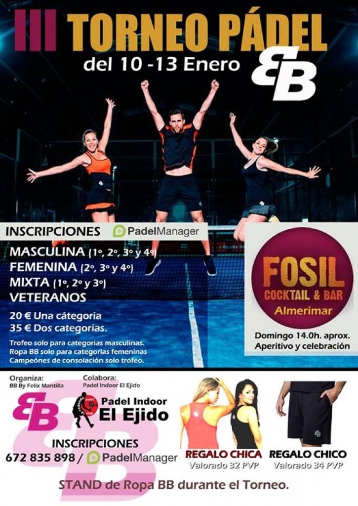 III TORNEO BB BY BELEN BERBEL - PADEL INDOOR EL EJIDO - Almeria - 2019
