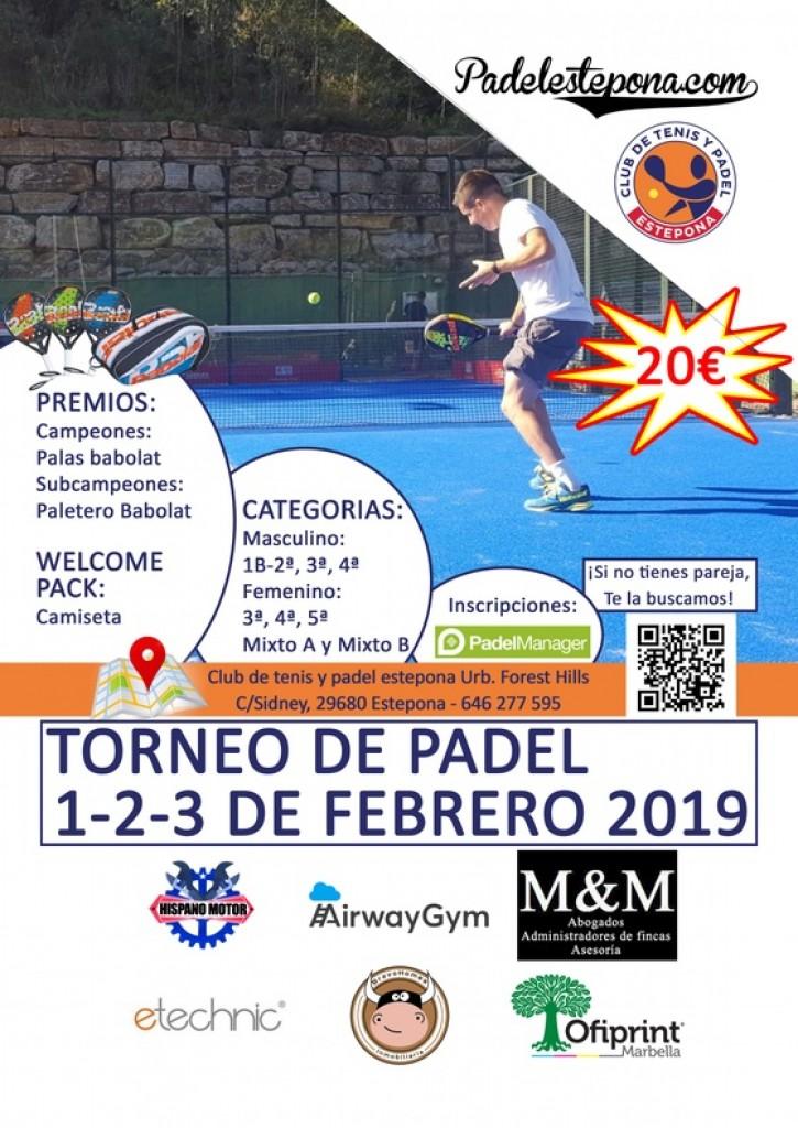 III TORNEO PADEL DE REAPERTURA - Málaga - 2019