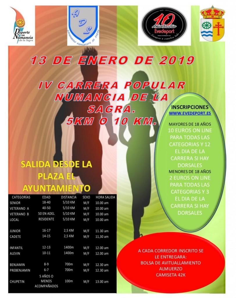 IV CARRERA POPULAR NUMANCIA DE LA SAGRA - Toledo - 2019