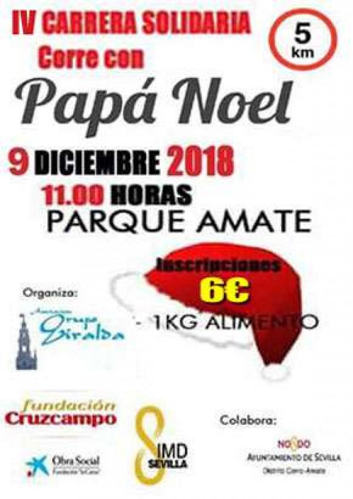 IV CARRERA SOLIDARIA CORRE CON PAPA NOEL - Sevilla - 2018