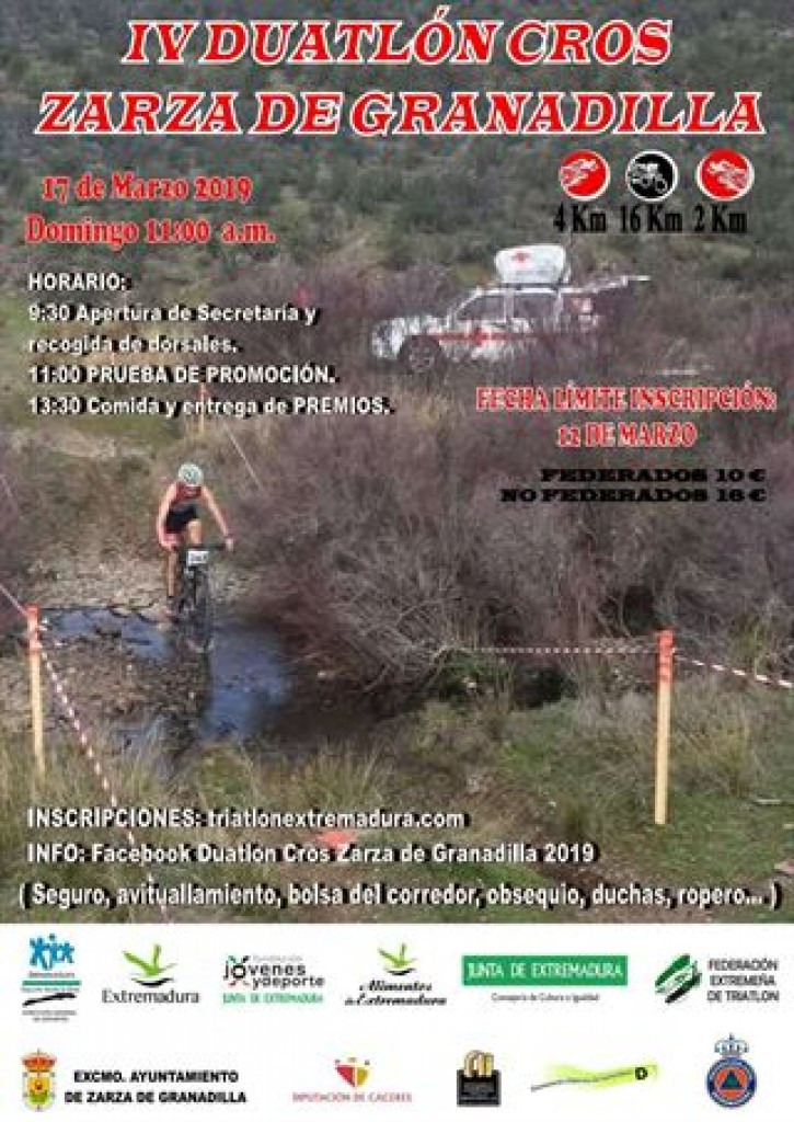 IV Duatlón Cros Zarza de Granadilla - Cáceres - 2019