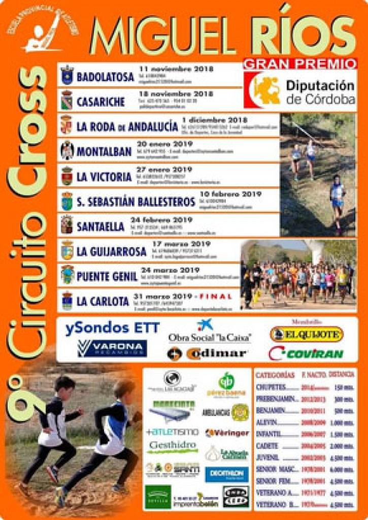 IX Circuito Cross Escuela Atl. Miguel Ríos S. Sebastián de los Ballesteros - Cordoba - 2019