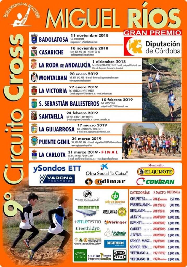 IX Circuito Cross Escuela Atl. Miguel Ríos Santaella - Cordoba - 2019