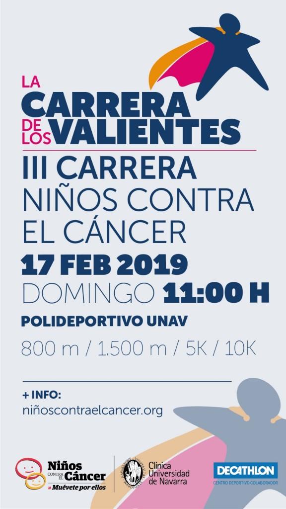 La Carrera de los Valientes – III Carrera Niños contra el Cancer - Navarra - 2019