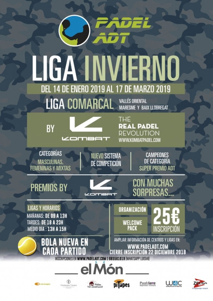PLAY OFF LIGA PADEL ADT - INVIERNO 2019 - COMARCA VALLÉS ORIENTAL - Barcelona