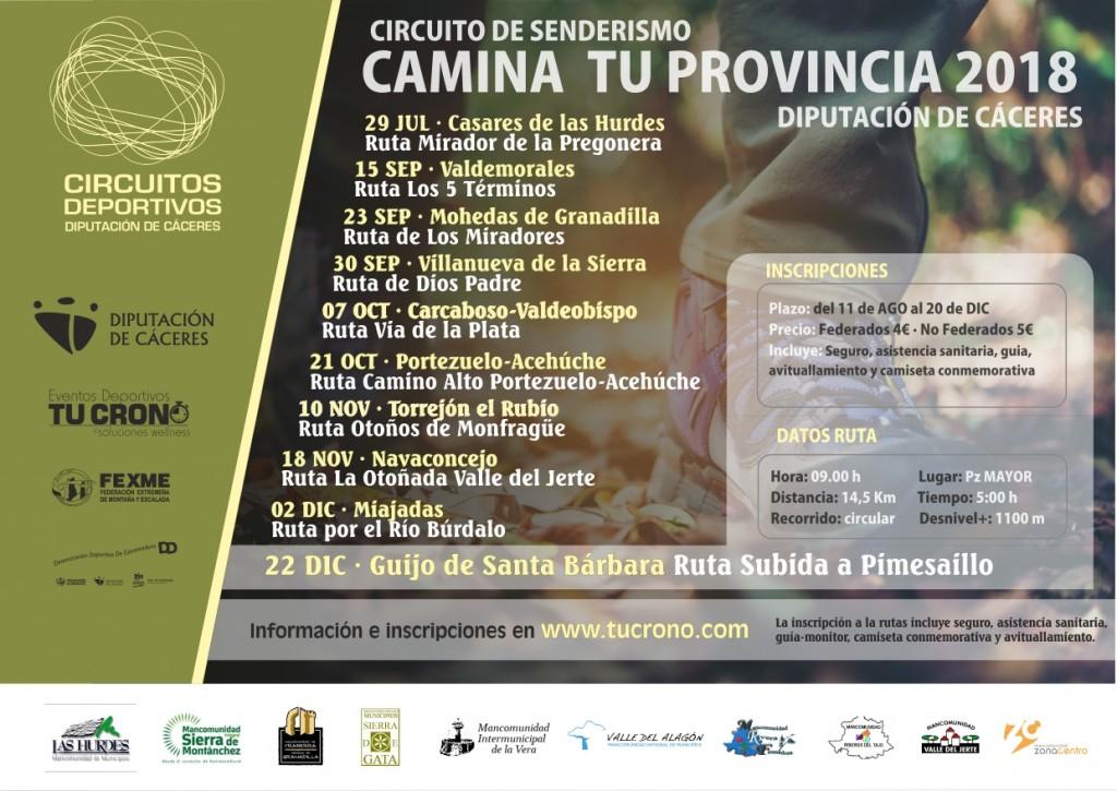 Ruta Senderismo Subida a Pimesaillo - Guijo de Santa Barbara - Cáceres - 2018