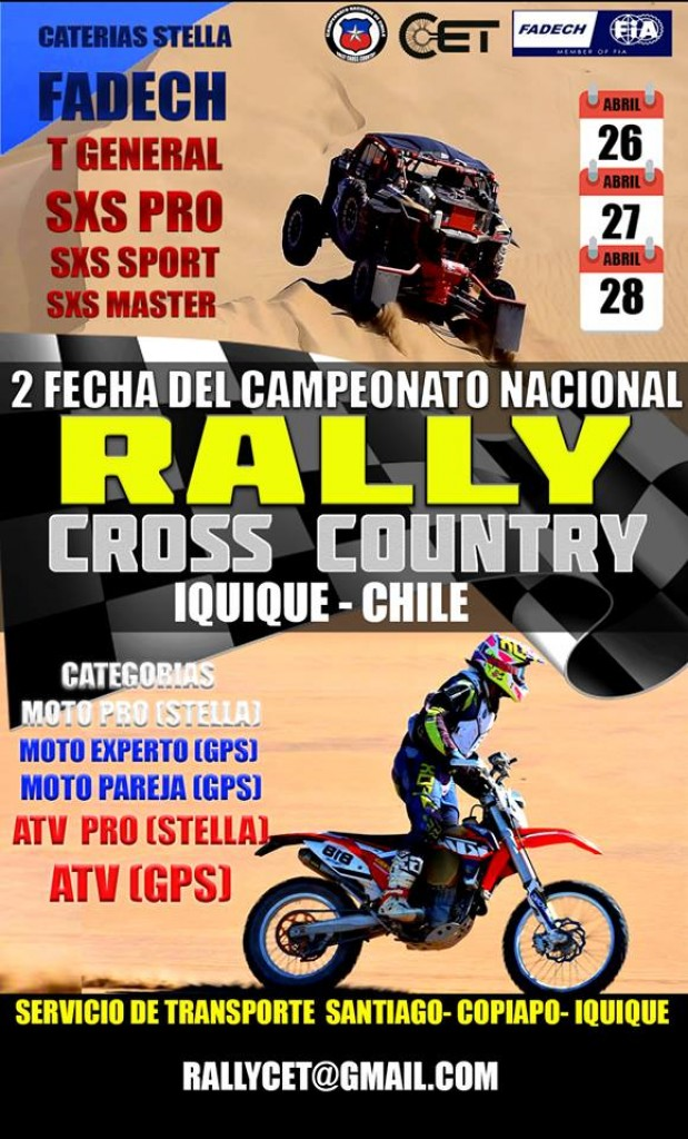 TARAPACA RALLY CROSS COUNTRY CET IQUIQUE CHILE 2019