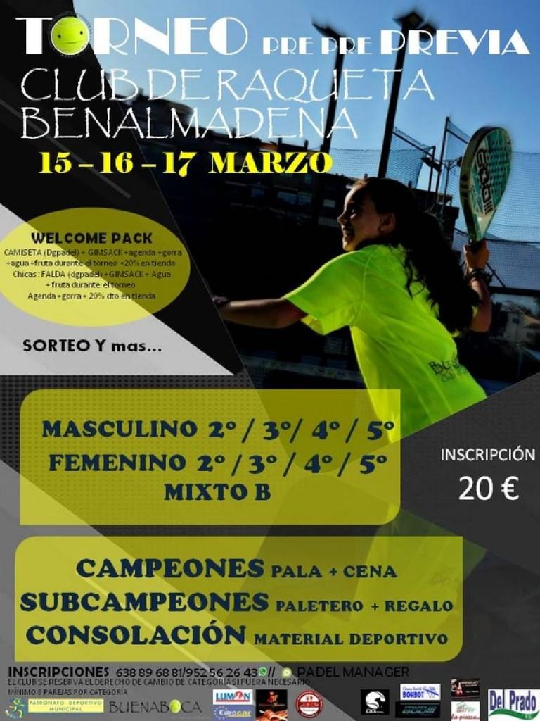Torneo de Padel Benalmádena 15-16-17 Marzo 2019