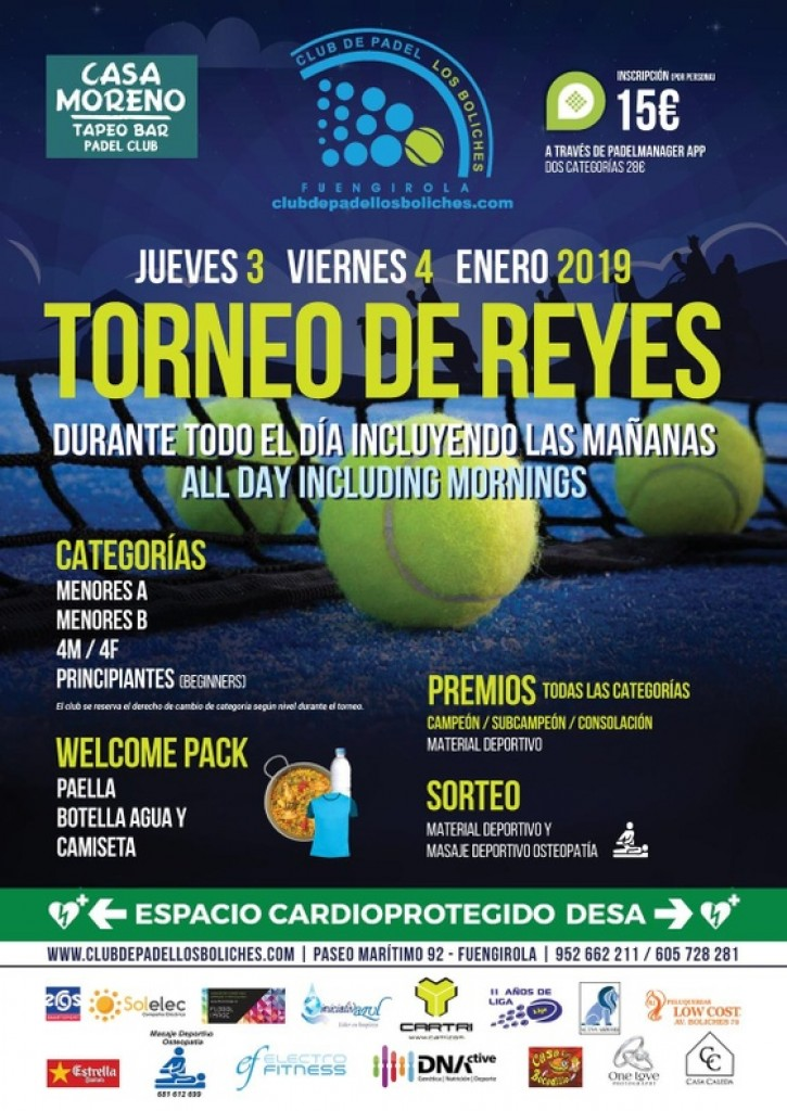 TORNEO DE REYES PADEL LOS BOLICHES - Malaga - 2019