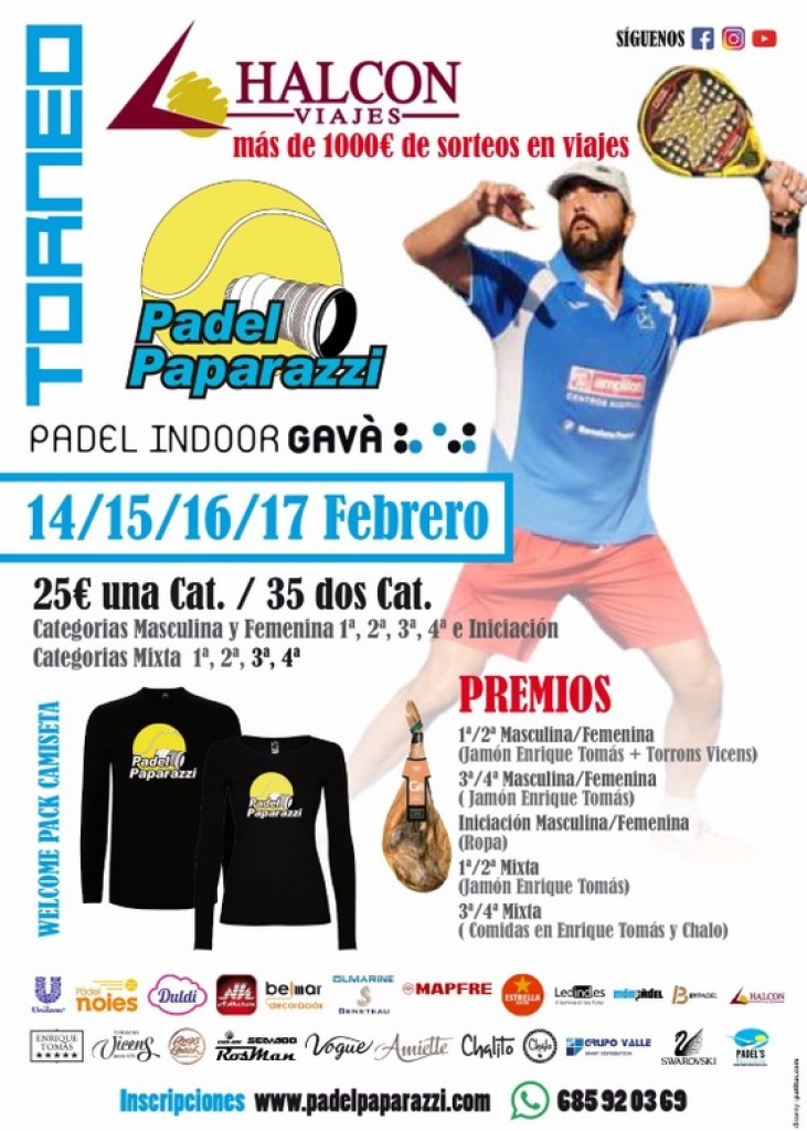 TORNEO PADEL PAPARAZZI 1RA PRUEBA - Barcelona - 2019
