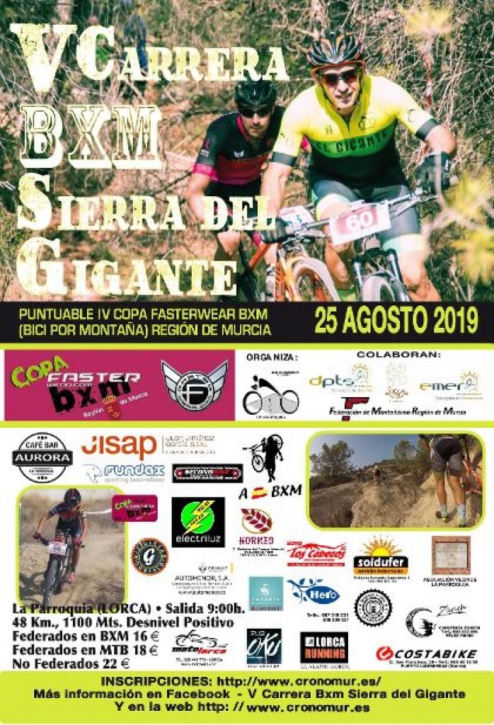 V CARRERA BXM SIERRA DEL GIGANTE - Murcia - 2019