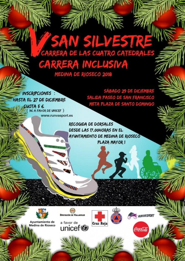 V Carrera de las Cuatro Catedrales San Silvestre Riosecana - Valladolid - 2018