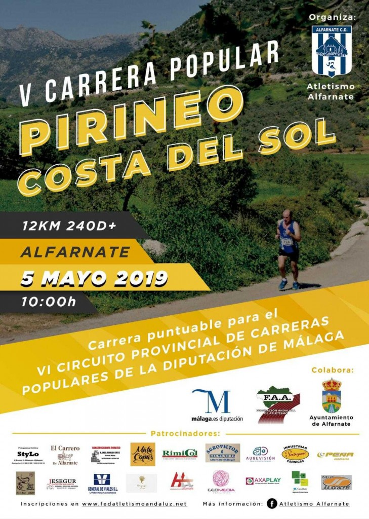 V Carrera Popular Pirineo Costa del Sol de Alfarnate - Málaga - 2019