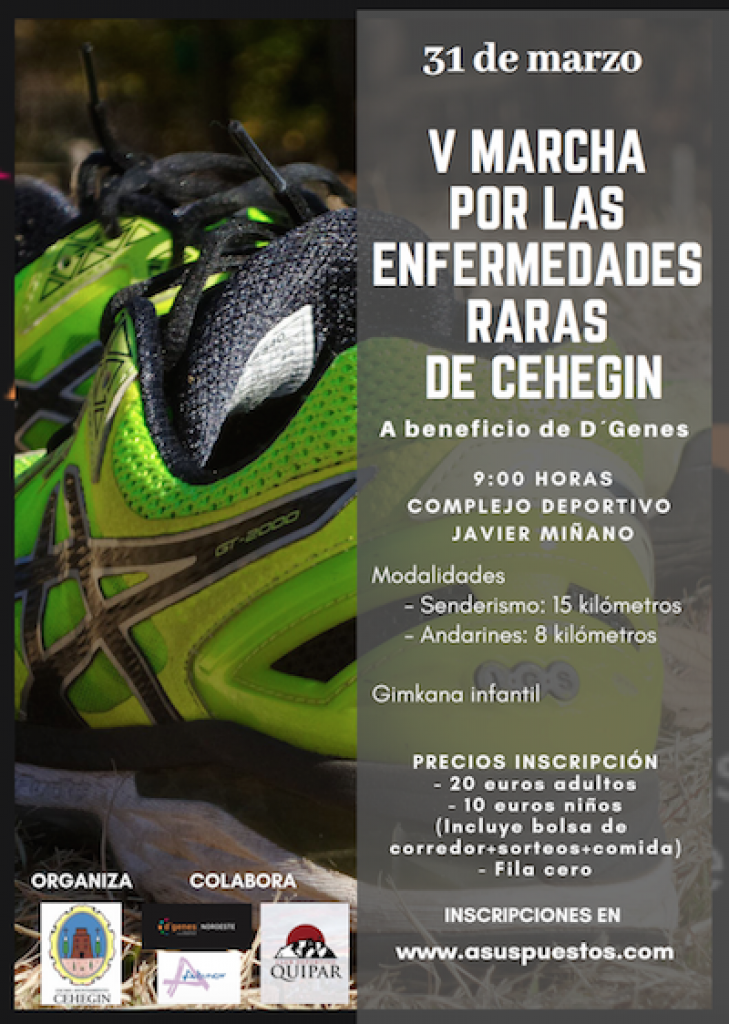 V MARCHA POR LAS ENFERMEDADES RARAS DE CEHEGÍN 2019 - Murcia