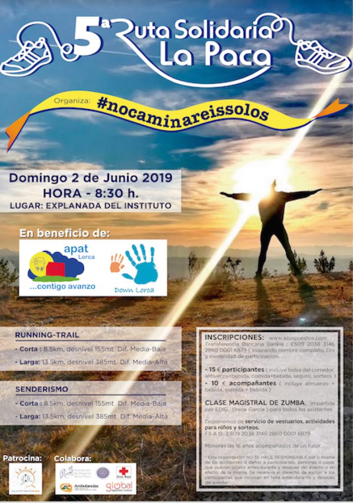 V RUTA SOLIDARIA - NO CAMINAREIS SOLOS - Murcia - 2019