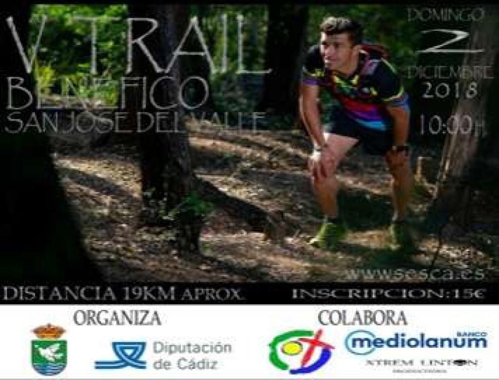 V TRAIL BENEFICO SAN JOSE DEL VALLE - Cadiz - 2018