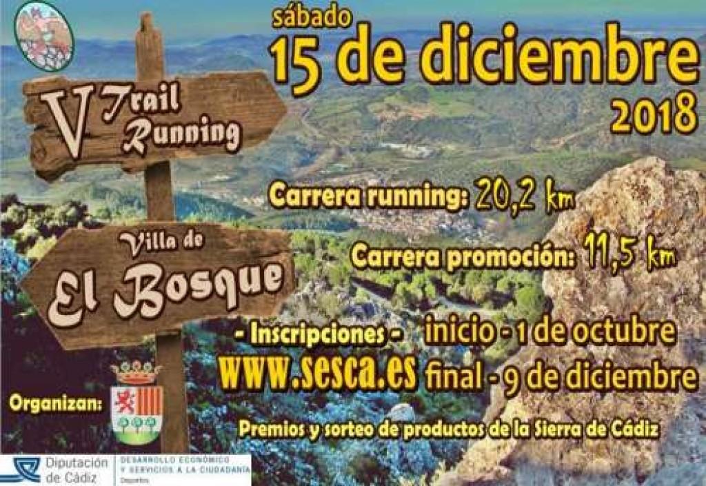 V TRAIL RUNNING VILLA DE EL BOSQUE - Cadiz - 2018