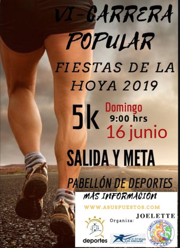 VI CARRERA POPULAR FIESTAS LA HOYA - Murcia - 2019