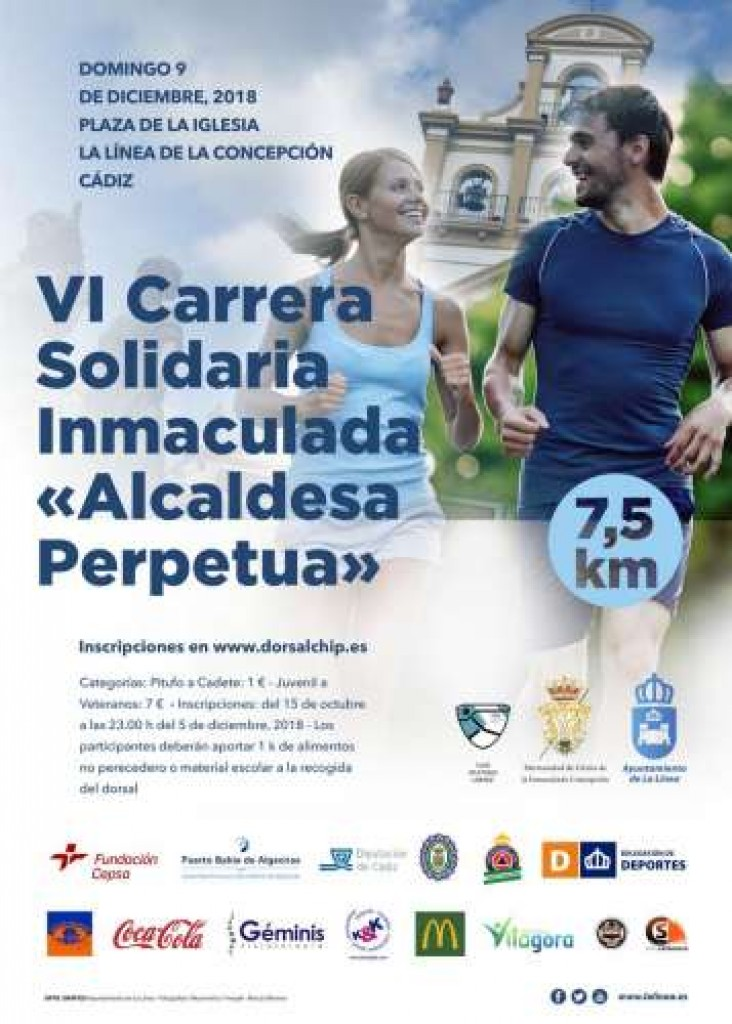 VI CARRERA POPULAR SOLIDARIA INMACULADA - Cadiz - 2018