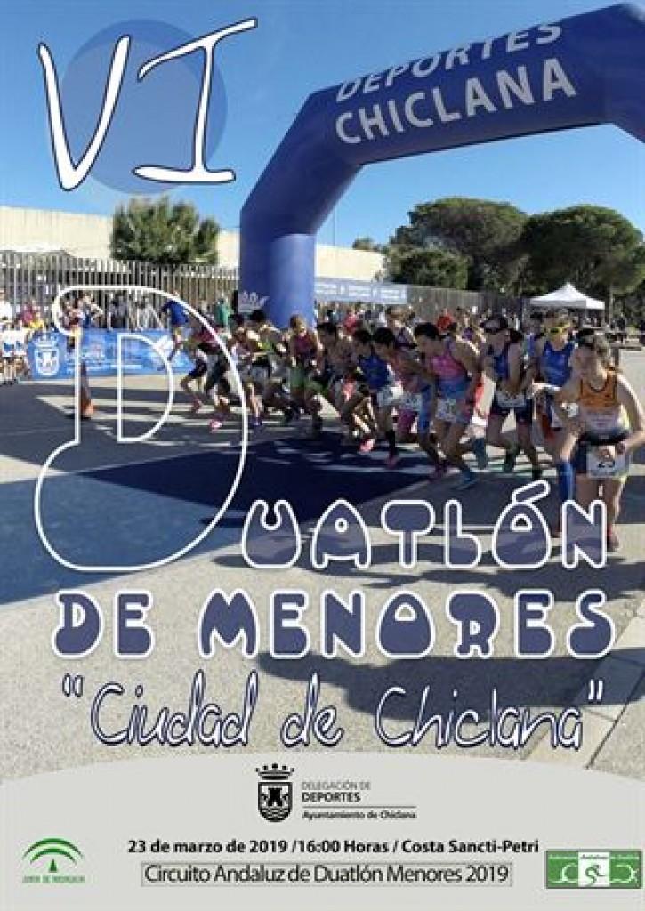 VI DUATLÓN DE MENORES CIUDAD DE CHICLANA - Cádiz - 2019