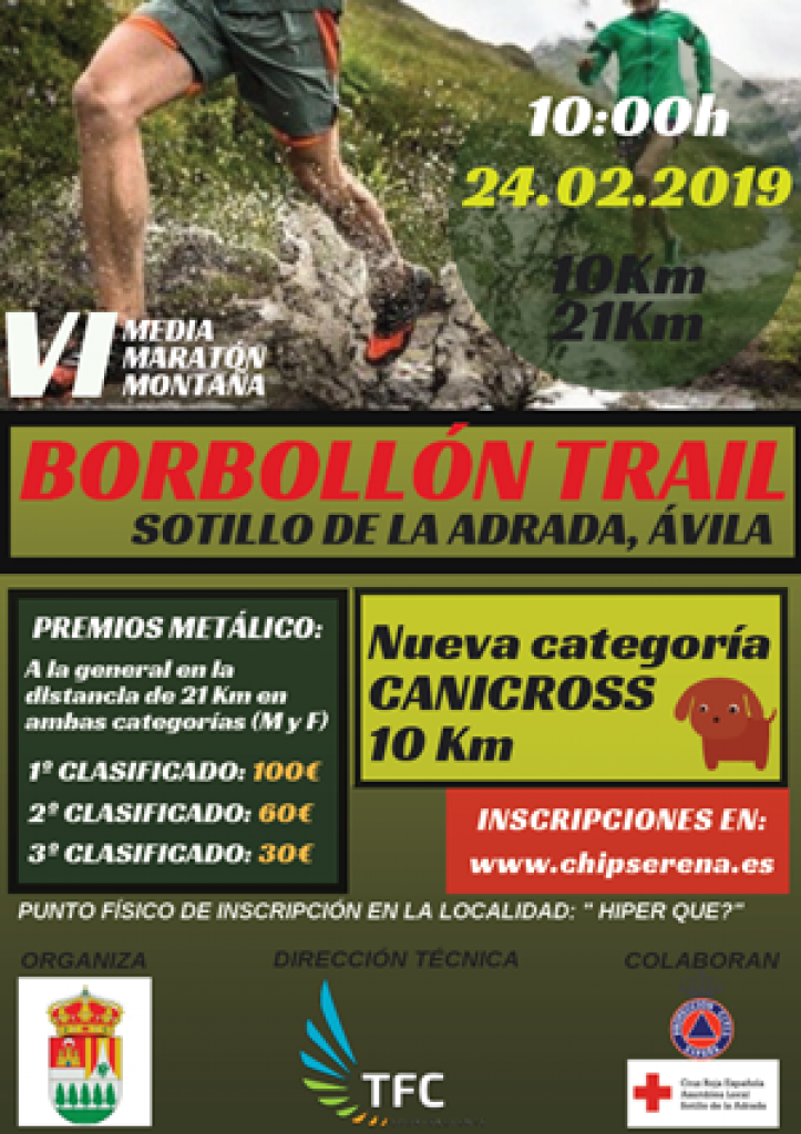 VI Media Maratón de Montaña Borbollón Trail - Avila - 2019