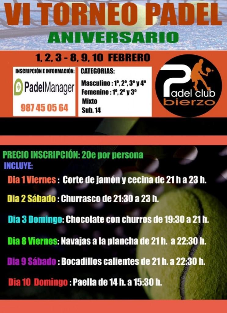 VI TORNEO ANIVERSARIO PADEL CLUB BIERZO - León - 2019