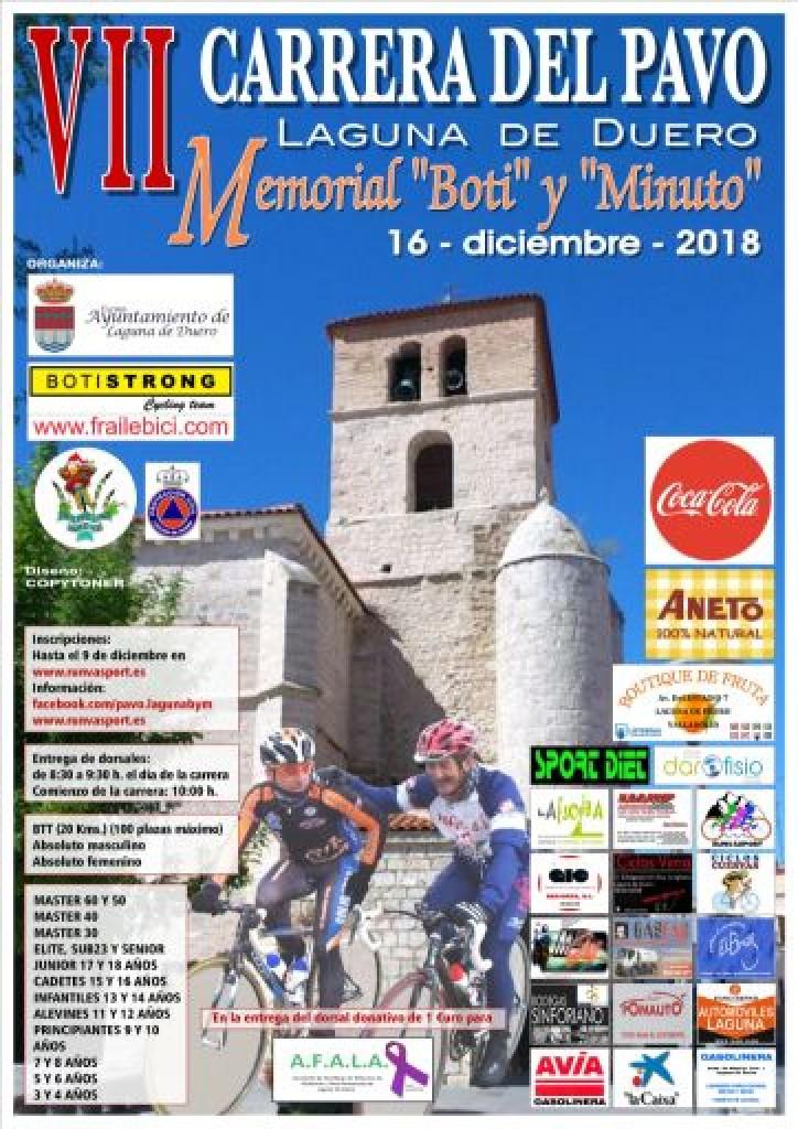 VII CARRERA DEL PAVO MEMORIAL BOTI Y MINUTO - Valladolid - 2018