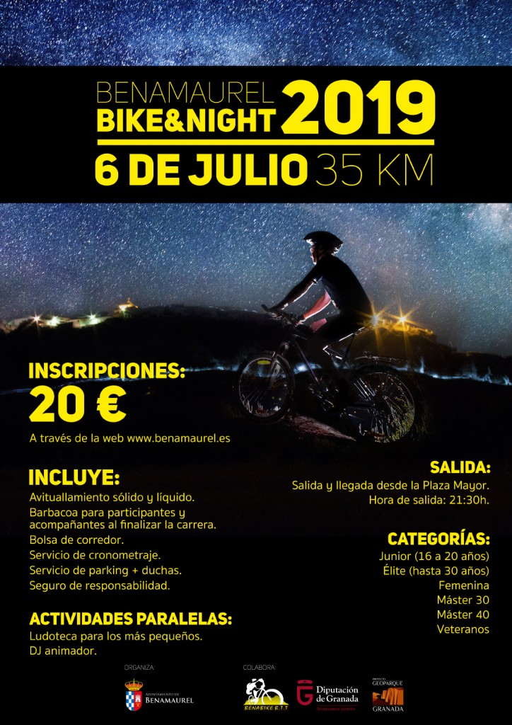 VIII EDICION BIKE NIGHT BENAMAUREL 2019 - Granada
